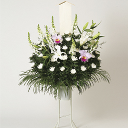 Flower Basket for Condolence with Stand Vase