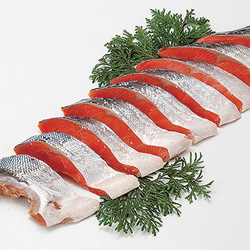 Salted Sockeye Salmon (Cut)