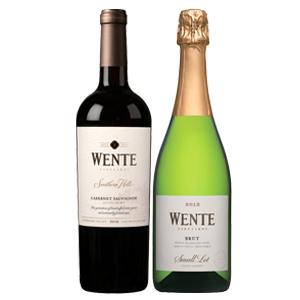 Wente Cabernet Sauvignon and Champagne Set